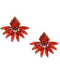 Dannijo Jovana Ii Red Crystal Stud Earrings - Lyst