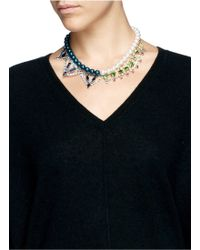 Joomi Lim - Crystal Pearl Double Strand Necklace - Lyst