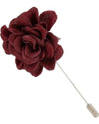 Lanvin Textured Rose Tie Pin - Lyst