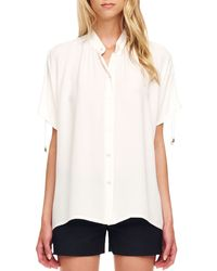 Michael Kors Tiesleeve Blouse Optic White - Lyst