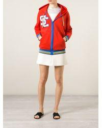 Erika Cavallini Semi Couture - Logo-Embroidered Multicolored Hoodie - Lyst