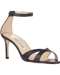 Manolo Blahnik Callre Ankle-strap Sandals - Lyst