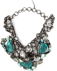 Beavaldes - Crystal Embellished Collar Necklace - Lyst