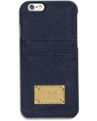 Michael Kors Saffiano Leather Pocket Case For Iphone 6 - Lyst
