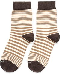 Etiquette - Sailor Striped Cottonblend Socks - Lyst