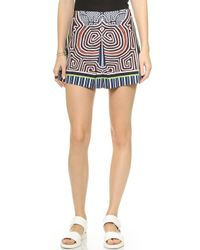 Clover Canyon Striped Labyrinth Shorts - Multi - Lyst