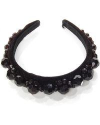 Simone Rocha Embellished Headband black - Lyst