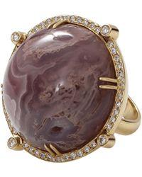 Pamela Huizenga - Purple Agate Ring - Lyst