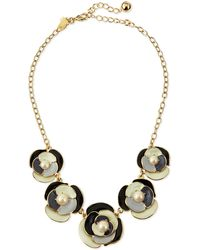 Kate Spade Deco Blossom Necklace Neutral - Lyst