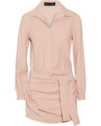 Jay Ahr Stretch-Crepe Playsuit - Lyst