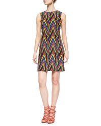 M Missoni Sleeveless Zigzag Tribal-Print Dress - Lyst