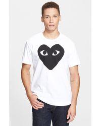 Comme des Garçons 'Heart Face' Graphic T-Shirt - Lyst