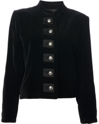 Yves Saint Laurent Vintage Mandarin Collar Jacket - Lyst