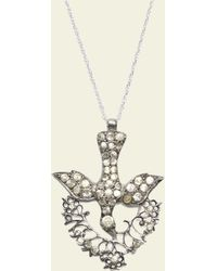 Erica Weiner - Georgian Silver And Paste Swallow Necklace - Lyst