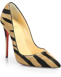 Christian Louboutin So Kate Striped Calf Hair Pumps - Lyst