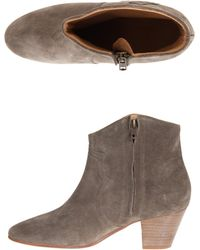 Etoile Isabel Marant Dicker Ankle Suede Boots - Lyst