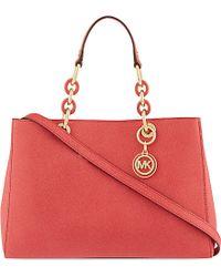 MICHAEL Michael Kors Cynthia Medium Leather Satchel Bag - Lyst