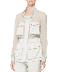 Jason Wu Sheerpanel Crepe Utility Jacket - Lyst