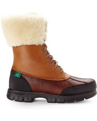 Lauren by Ralph Lauren Brown Quinta Boots - Lyst