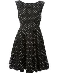 Alice + Olivia Black Beaded Dress - Lyst