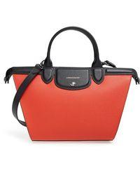 Longchamp | 'le Pliage - Heritage' Leather Handbag | Lyst