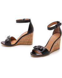 Marc By Marc Jacobs Logo Disc Wedge Sandals - Black - Lyst