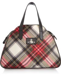 Vivienne Westwood Anglomania - Kilt Leather-trimmed Checked Shell Shoulder Bag - Lyst