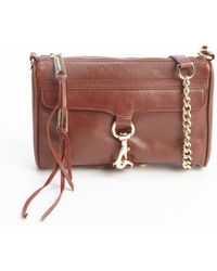Rebecca Minkoff Mahogany Leather Mini Mac Chain Strap Bag - Lyst