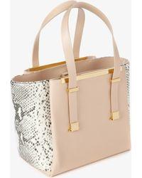Ted Baker Exotic Leather Shopper Bag - Lyst
