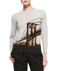Burberry Prorsum Brooklyn Bridge Intarsia Sweater - Lyst