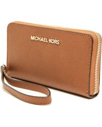 Michael by Michael Kors Jet Set Travel Phone Case  Luggage - Lyst