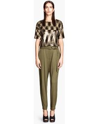 H&M  Loose Fit Trousers - Lyst