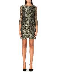 Diane von Furstenberg Zarita Metallic Lace Dress - Lyst