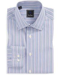 David Donahue Regular Fit Stripe Dress Shirt - Lyst