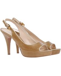 Prada Sandals khaki - Lyst