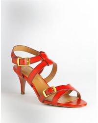Elie Tahari Georgia Leather Sandals - Lyst