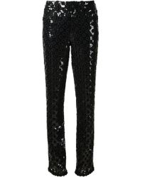 Marc Jacobs Sequined Straight Leg Trousers - Lyst