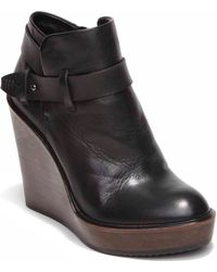 Dolce Vita Colie Leather Wedge Booties - Lyst