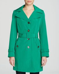 Calvin Klein Single Breasted Trench Coat - Lyst