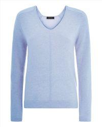Jaeger Cashmere V-Neck Sweater - Lyst