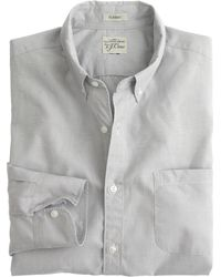 J.Crew Secret Wash Shirt In End-On-End Cotton - Lyst