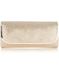 Oasis Cahir Glitter Clutch Bag - Lyst