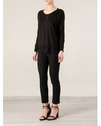 Ann Demeulemeester Cropped Skinny Trousers - Lyst