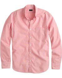 J.Crew Slim Secret Wash Shirt In End-On-End Cotton red - Lyst