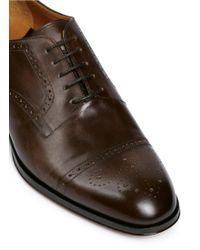 Rolando Sturlini | 'alameda' Richelieu Brogue Leather Oxfords | Lyst