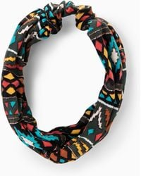 Mango Ikat Print Headband - Lyst