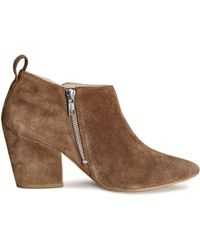 H&M Suede Boots - Lyst