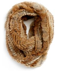 Love Token - Genuine Rabbit Fur Infinity Scarf - Lyst