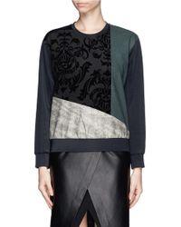Edition10 - Velvet Flock Patchwork Sweatshirt - Lyst