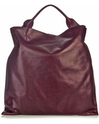 Jil Sander Xiao Leather Tote - Lyst